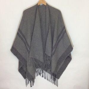 Blanket Scarf /Wrap in deep Grays
